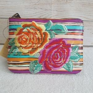 New Patricia Nash Floral Embroidered Wristlet